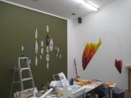 In Deborah's studio