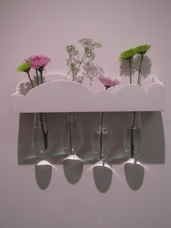 jessie's cloudy day dreamscape, wood, glass, flowers
