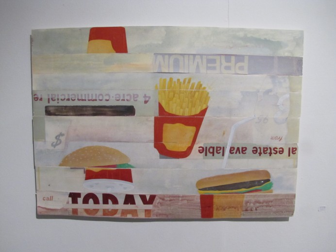Painting/Collage by Shane Darwent
