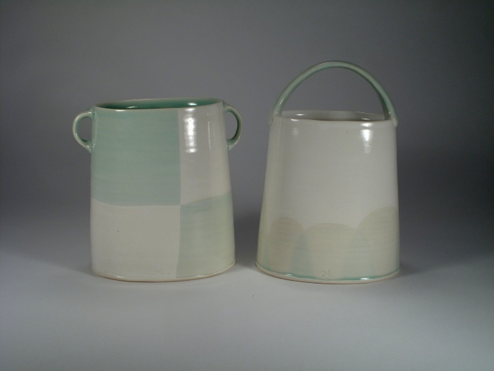 More baskets/vases with new blue/green....