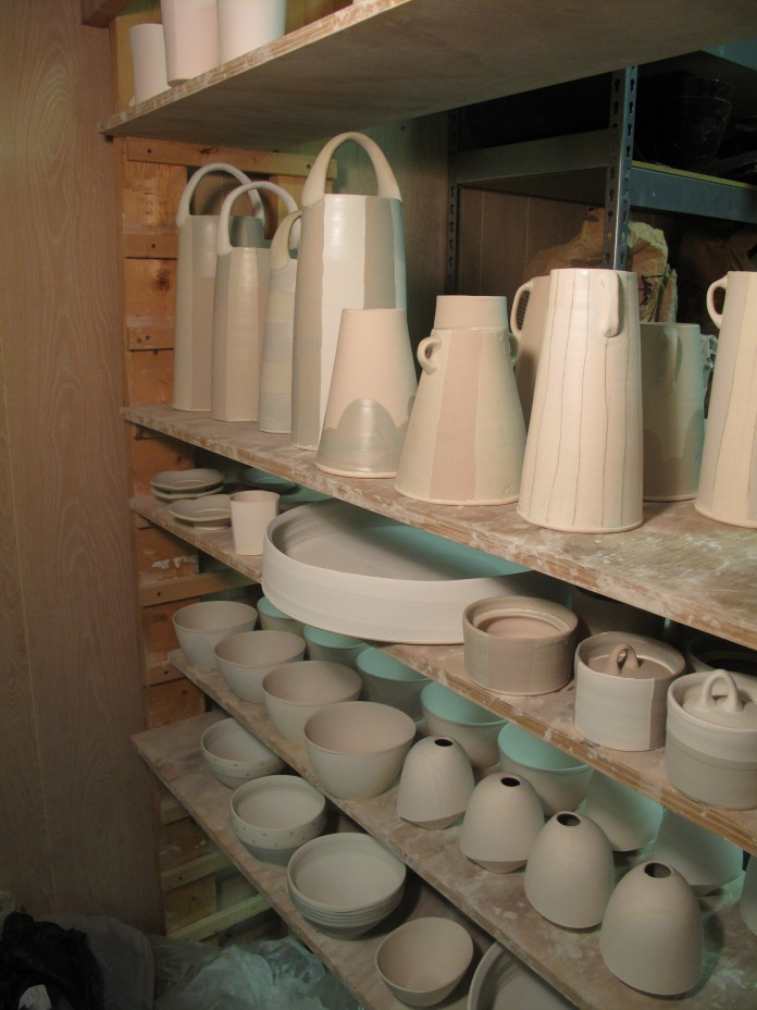 Fresh-glazed tall baskets etc. reddy to load!