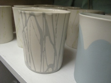 Detail of Grey Splatter Cup..